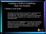 creating a uniform guidelines style job analysis5