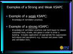 examples of a strong and weak ksapc