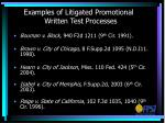 examples of litigated promotional written test processes