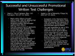 successful and unsuccessful promotional written test challenges