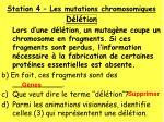 station 4 les mutations chromosomiques