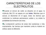 caracter sticas de los electrolitos