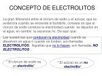 concepto de electrolitos