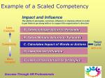 example of a scaled competency