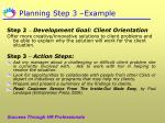 planning step 3 example