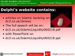 delphi s website contains