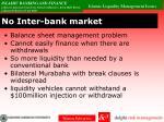 no inter bank market