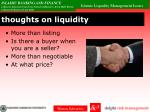 thoughts on liquidity