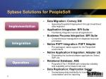 sybase solutions for peoplesoft