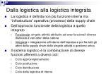 dalla logistica alla logistica integrata