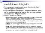 una definizione di logistica