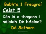babhta 1 freagra5