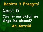 babhta 3 freagra5