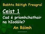 babhta r itigh freagra1