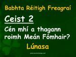 babhta r itigh freagra2