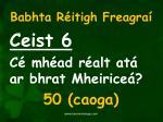 babhta r itigh freagra6