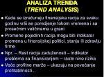 analiza trenda trend analysis