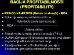 racija profitabilnosti profitability1