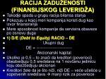 racija zadu enosti finansijskog leverid a