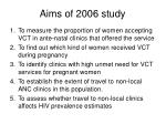 aims of 2006 study
