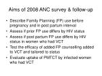 aims of 2008 anc survey follow up
