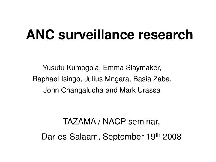 anc surveillance research n.