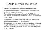 nacp surveillance advice