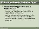 u s antitrust laws in the global context