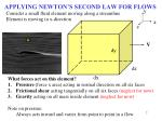 applying newton s second law for flows