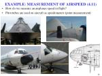 example measurement of airspeed 4 11