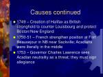causes continued