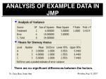 analysis of example data in jmp