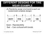different designs for tire wear example