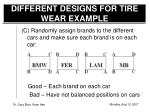 different designs for tire wear example2