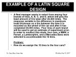 example of a latin square design