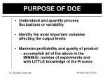 purpose of doe