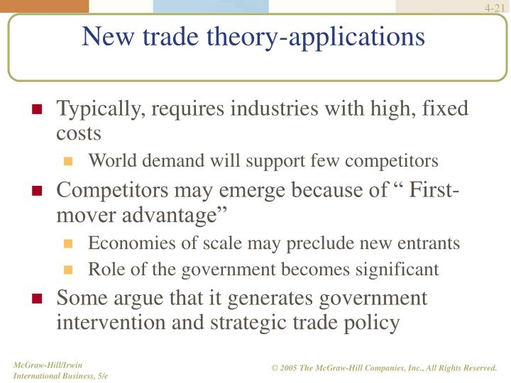 Typically, requires industries with high, fixed costs