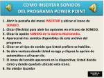 como insertar sonidos del programa power point