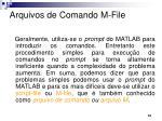 arquivos de comando m file