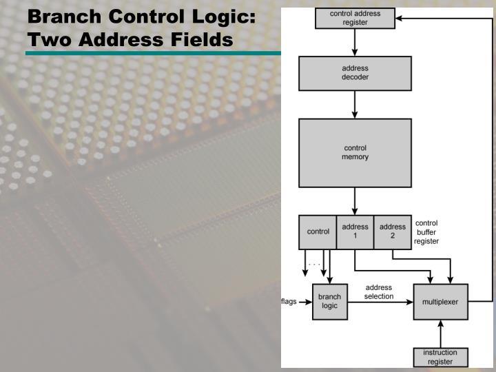 Branch Control Logic: