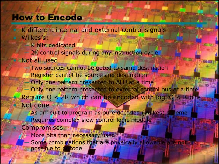 How to Encode