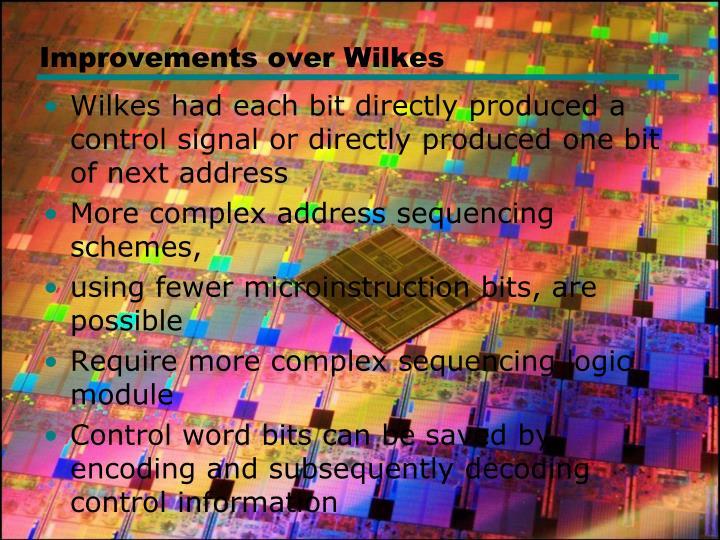 Improvements over Wilkes