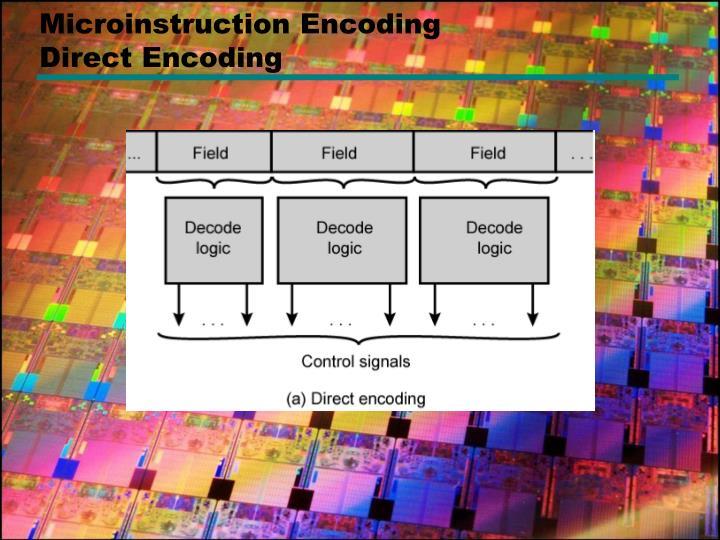 Microinstruction Encoding