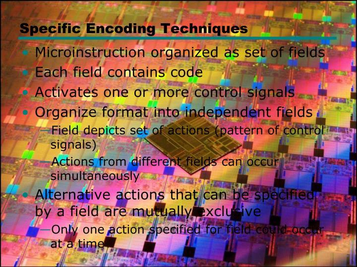 Specific Encoding Techniques