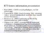 ict fosters information presentation1