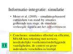 informatie integratie simulatie2