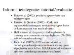 informatieintegratie tutorial evaluatie1