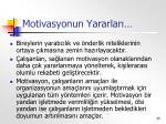 motivasyonun yararlar1