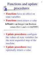 functions and update procedures