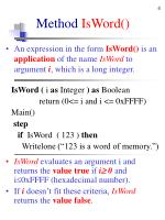 method isword